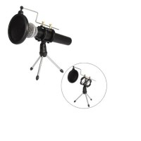 Complete Microphone Accessories(Tripod Stand + Mini Pop Filter Circle)