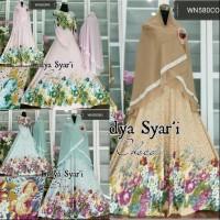 baju gamis syari murah busui bahan jersey jilbab ceruti Baru   Busan