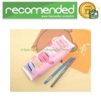 Kotak Tempat Pensil Cracker Cute PU Leather Case - Pink