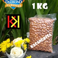 Almond Roasted (Kacang Almond Panggang) Blue Diamond tanpa cangkang