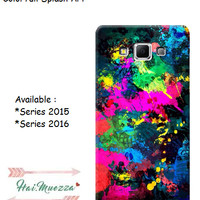 custom case / hardcase / samsung a3 a5 a7 2015 / 2016 colorfull splash