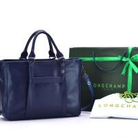 Tas Longchamp 3D Medium Leather Tote BIRU TUA Semi Premium AP1285