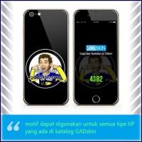 Garskin HP gambar Valentino Rossi no hear Black stiker