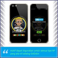 Garskin HP gambar Valentino Rossi The Doctor Black stiker
