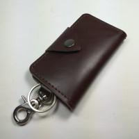 dompet STNK dan SIM kulit sapi asli gantungan kunci mobil warna coklat