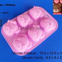 Cetakan Kue / Puding Med. Bear Couple 6 cav
