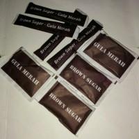 Jual Brown Sugar / Gula Semut / Gula Merah Kemasan Stick & Sachet 8gr Murah