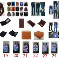 Product Kemeja Eiger, Jaket kulit, tas, dompet celana dll