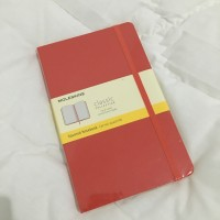 Moleskine Large Squared Red Notebook