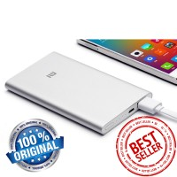 harga Power Bank Xiaomi Tipis 5000mah Original - Siver Tokopedia.com