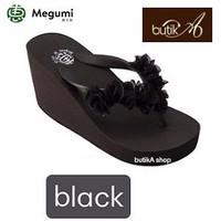 Harga banting harga sandal wedges wanita brand megumi cherry paling | Pembandingharga.com