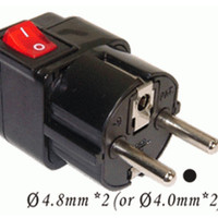 Jual WonPro Steker Adaptor with Switch Kaki 3 ke 2 Colokan - Listrik Murah