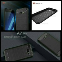 Samsung Galaxy A7 2017 A720 Softcase Texture Carbon Pattern TPU Rubber