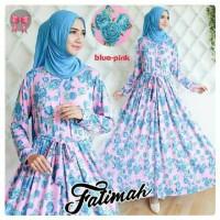 Gamis Syari Murah Fatimah Biru Pink