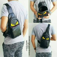 WAIST BAG FENDI MONSTER LEATHER PREMIUM ( TERMURAH SE - TOKOPEDIA )