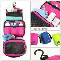 Jual Travel Mate Organizer Toilet Bag / Tas Mandi Traveling foldable Murah