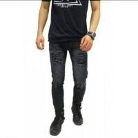 Jual Jeans sobek | Skinny jeans pria | ripped jeans pria | jeans slim fit Murah