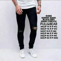 Jual Jeans sobek   ripped jeans pria   skinny jeans hitam pria Murah