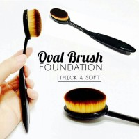 Jual Oval Foundation Face Brush (Make Up Brush) Murah