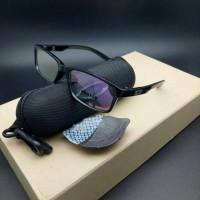 kacamata frame OAKLEY bucket lensa anti radiasi ( hitam glossy )