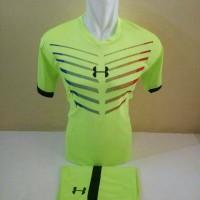 Setelan Futsal, Kostum Tim Futsal, Jersy Bola, Hijau list Hitam