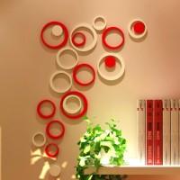 Jual 3D Wall Sticker Model BULAT bahan kayu ringan Hiasan Interior Dinding Murah