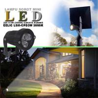 Lampu Sorot Lampu Taman LED Mini 3 W cahaya kuning
