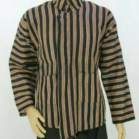 Baju / Kemeja Surjan Setelan Dewasa/Lurik/Batik Jawa pakaian Adat Jawa