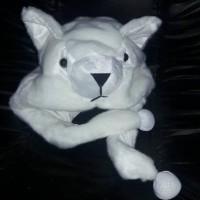 kucing anggora peak nose animal hat topi boneka