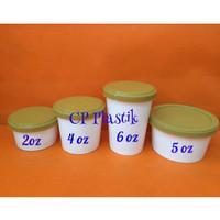Paper Cup Ice Cream + Tutup Tebal + Sendok Uk. 4 oz (isi 50 pcs)
