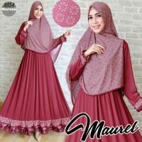 maurel marun syarie / setelan baju muslim maroon / gamis maroon