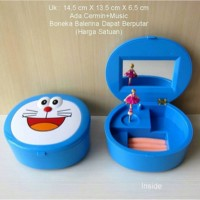 Kotak Perhiasan Music Box Doraemon Face
