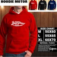 JAKET HOODIE OTOMOTIF MOTOR Honda Beat Street Logo FONT Hoodie/Sweater