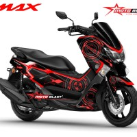 Decal stiker NMAX BLACK HITECH (FULLBODY NON CUTTING)