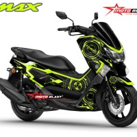 Decal stiker NMAX Black Hitech ( FULLBODY NON CUTTING)