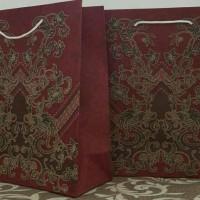 Jual Paper Bag/Tas Kertas Motif Batik Uk 20X30X8 cm Murah