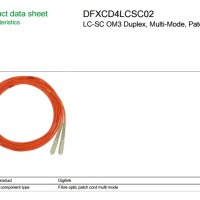 Utilities - Schneider - LC-SC OM3 DPX, MM, PATCH CORD 2M DFXCD4LCSC02
