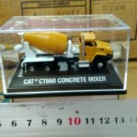diecast miniatur alat berat caterpillar norscot ct660 concrete mixer