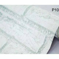 wallpaper / wall paper sticker motif bata putih white brick