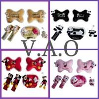 Jual Paket bantal mobil 3 in 1 + ( Little Panda, Hello Kitty, Bear Forever) Murah