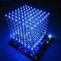 beauty 3D Light Square DIY Kit 8x8x8 3mm LED Cube Blue module biru