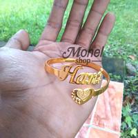 harga Gelang Ukir Nama Lapis Emas Love Grafir Pasir Perhiasan Custom Nama Tokopedia.com