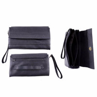 Dompet Handbags Pria Kulit Synthetic Class Series Hitam H-146