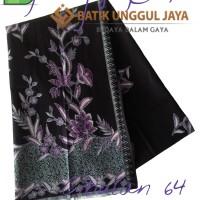 Jual Kain Batik Pekalongan Primisima Halus Cibulan 64 Ungu Unggul Jaya Murah