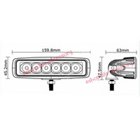 PROMO Led Bar 18 watt lampu sorot tembak motor mobil LED MURAH MERIAH