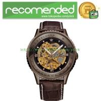 Ouyawei Skeleton Leather Strap Automatic Mechanical Watch - OYW1335 -