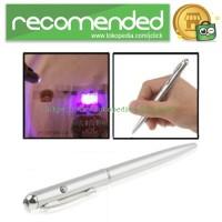 Pena Tinta Invisible dengan UV Light - Silver