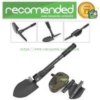 Pacul Sekop Lipat Military Portable Folding Multifunction Shovel - Bla