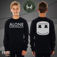 Sweater Anak Marshmello Alone - Hitam