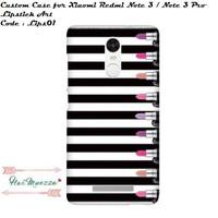 custom case / hardcase / xiaomi redmi note 3 / note 3 pro lipstick art